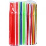 Трубочки для коктейля 210*5мм цветные