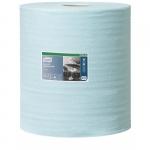 Протирочный материал Tork Premium безворсовый нетканый в большом рулоне, голубой W3