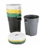 Контейнер пластиковый для мусора VILEDA Титан 120л