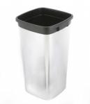 Контейнер пластиковый для мусора VILEDA Ирис с металлизированным покрытием прямоугольный
