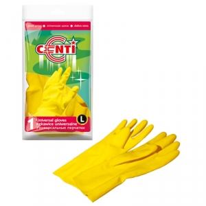 Перчатки хозяйственные резиновые Centi