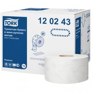 Бумага туалетная в мини рулоне TORK Premium Т2