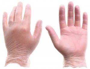 Перчатки виниловые одноразовые, 100 шт/упак