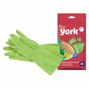 """Перчатки резиновые хозяйственные """"York"""" алоэ"""