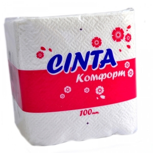 """Салфетки бумажные """"Cinta Комфорт"""""""