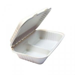 Ланч-бокс 2 секции, 50 шт/упак, сахарный тростник